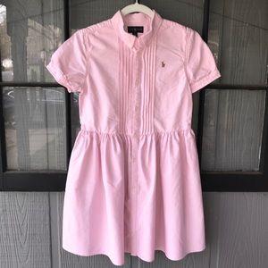 Ralph Lauren dress, pink with tuxedo pleating